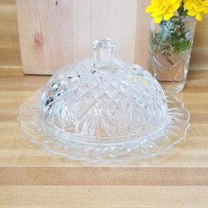 💖💖Vintage Glass Butter Dish